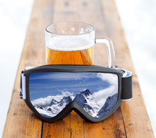 Ski Goggles With Reflection Of...