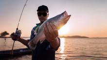 Asian Young Men Fishing .
