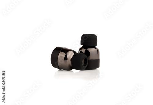 Fotografía  Wireless headphones on a white background