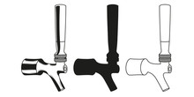 Set Beer Taps Icon. Vector Ill...