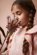 Portrait Of Cute Little Girl S...