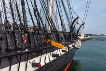 March 8th 2019. Boston USA - The Ship USS Constitution At The End Of Boston's Freedom Trail As Part Of Museum At The Boston National Historical Park, Massachusetts, United States