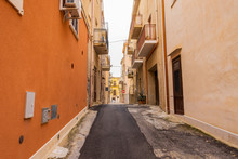 Picturesque Street In Ortigia, Siracusa Old Town, Sicily
