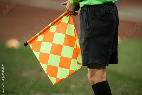 Details of a linesman referee Canvas Print