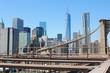 Brooklyn Bridge in New York. The great famous bridge