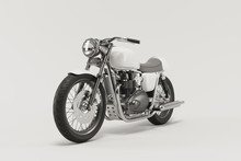 Caferacer Motorcycle On Clean ...