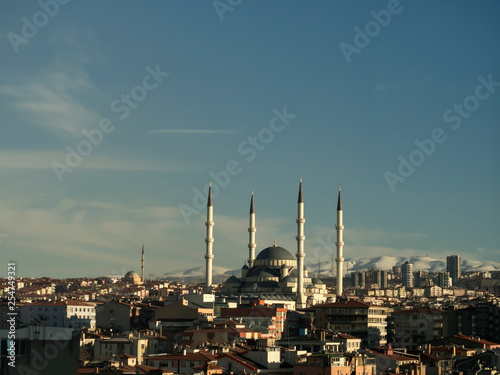 Foto  ankara capital of the turkey and views with the mosque