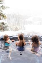 Girls In Hot Tub In Snow