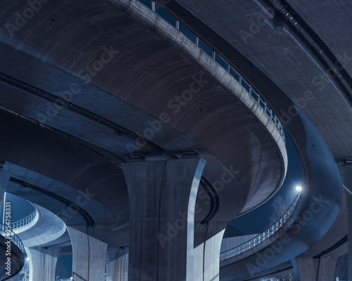 Bridge at night Tablou Canvas