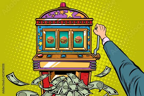 Fotografie, Tablou Burger prize slot machine
