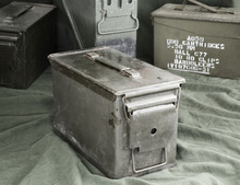 Military Green Ammunition Boxes.