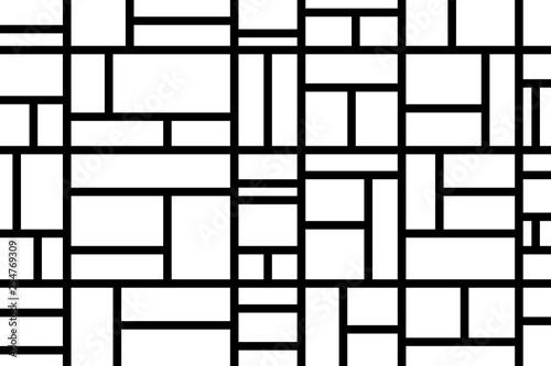 Valokuva  Abstract mosaic pattern grid black and white