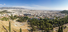 Greece, Athens, Panorama, View From Acropolis Hill
