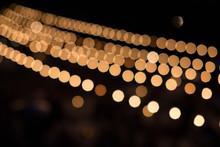 Strung Lights On Black Backgro...