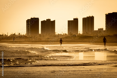Obraz Sunset on beach - Aracaju - Brazil - fototapety do salonu
