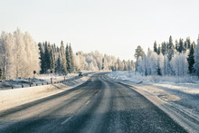 Driveway At Snowy Winter Lapland