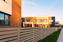 Apartment House Residential Home Architecture And Entrance Fence