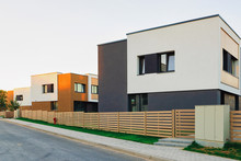 Apartment House Residential Home Architecture With Entrance Gate