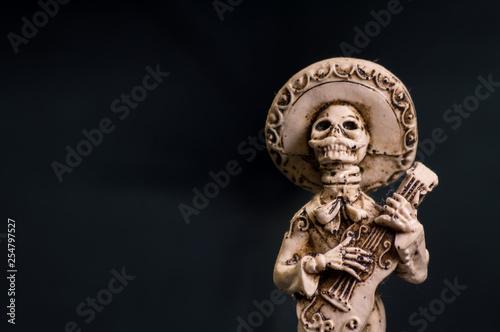 Fotografia, Obraz  Male Mexican skeleton wedding cake topper