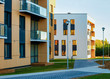 canvas print picture - Apartment residential homes facade architecture and outdoor facilities