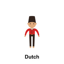 Dutch, Man Cartoon Icon. Element Of People Around The World Color Icon. Premium Quality Graphic Design Icon. Signs And Symbols Collection Icon For Websites, Web Design