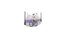 Fashion Girl Riding A Bike In France