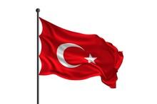 Waving Flag Of Turkey. 3D Rendering