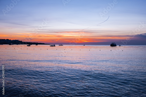 Canvas Prints Inspirational message sunrise / sunset on the background of the sea. advertising space