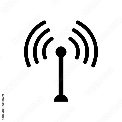 antena ikona Canvas Print