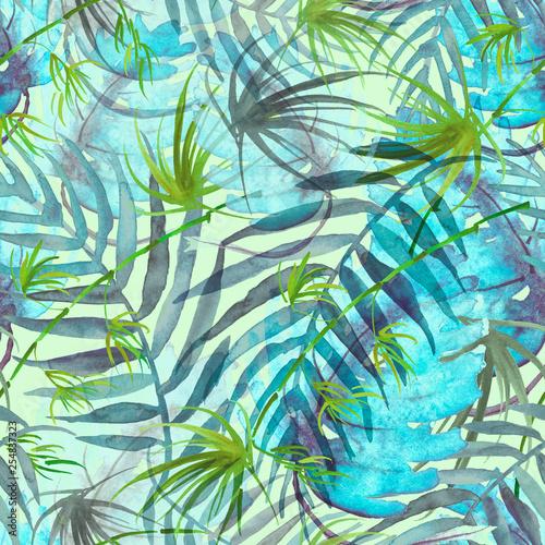tropikalne-liscie-akwarela-liscie-drzewa-palmy-bambus-pokrzywa-streszczenie-splash-akwarela-streszczenie-tlo-wzor-miejsce-plusk