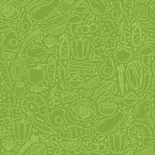 Healthy Food Seamless Pattern