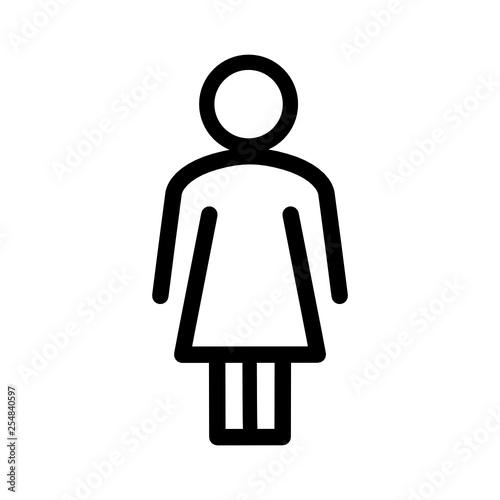 Fototapeta sylwetka kobiety ikona obraz