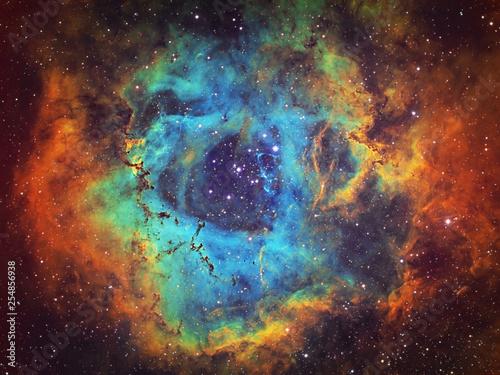 Fotografie, Tablou  Deep Space object Rosette Nebula (NGC 2237, Caldwell 49), large hydrogen, sulfur