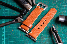 Genuine Leather Watch Strap Handmade With Tool