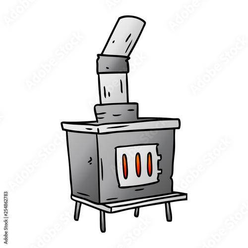 Cuadros en Lienzo gradient cartoon doodle of a house furnace