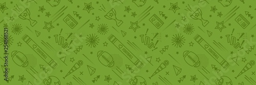 American football abstract background in green color. Seamless pattern for posers and banners. Vector illustration
