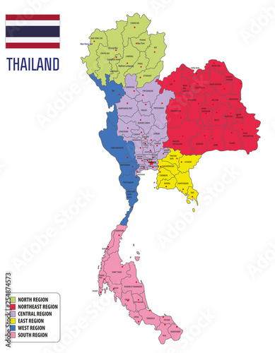 map of Thailand Canvas-taulu