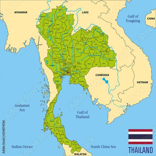 Valokuva  map of Thailand