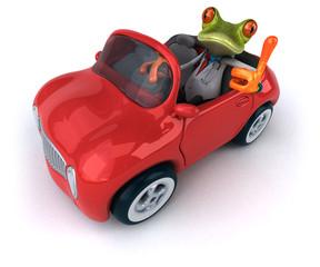 Zabawa żaba - ilustracja 3D