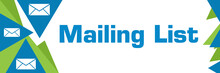 Mailing List Green Blue Triangle Text
