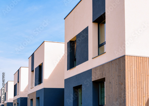 Photo  Apartment homes residential buildings complex real estate copy space