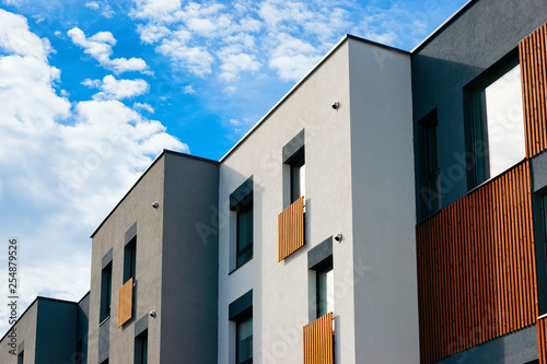 Photo Modern Apartment houses homes residential buildings complex real estate