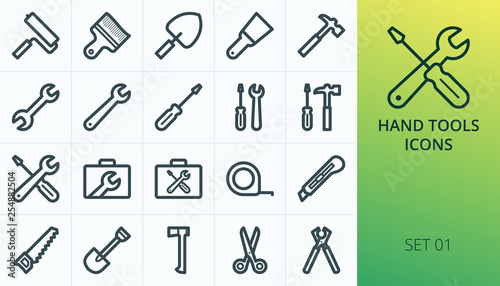 Fototapeta Hand tools icons set