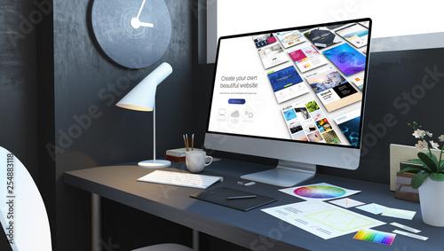 website builder design workspace