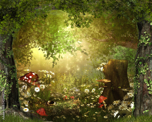Enchanting Lush, Fairy Tale Woodland
