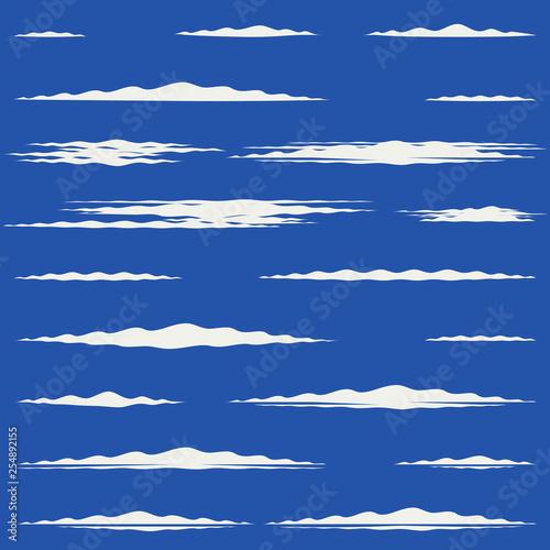 Flat design of lengthwise cirrus clouds Fototapeta