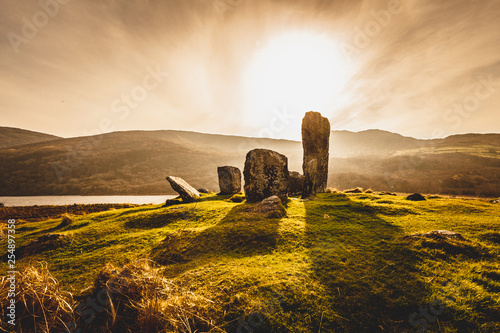 Canvas Prints Honey Uragh Stone Circle, Gleninchaquin Park, Co. Kerry, Ireland