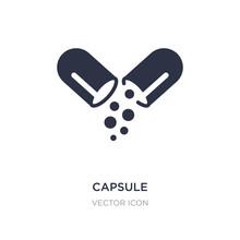 Capsule Icon On White Backgrou...