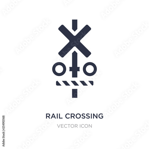 rail crossing icon on white background Fototapet