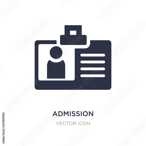 Cuadros en Lienzo admission icon on white background